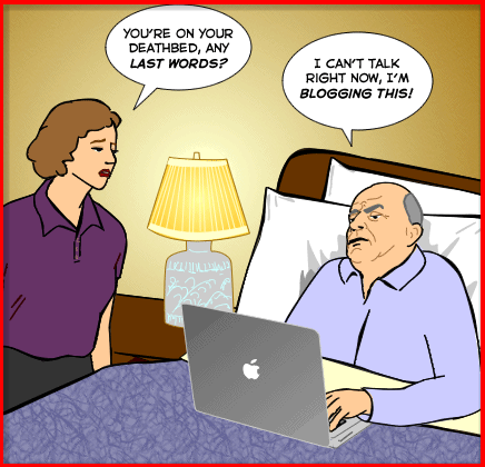 blogging deathbed
