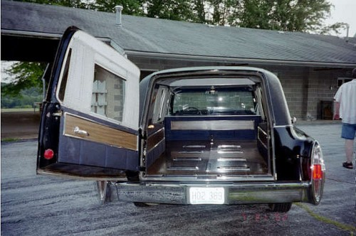 hearse door ajar