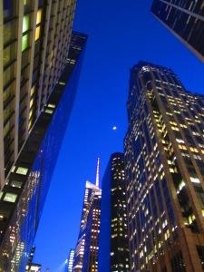 crescent moon on new york