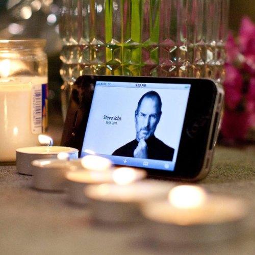 Steve Jobs Candle