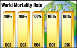world mortality 100%