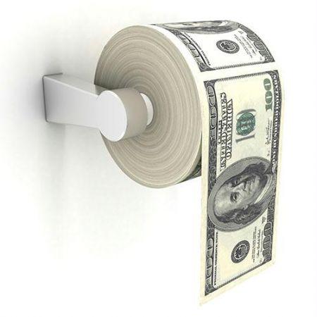 Million dollar toilet-paper