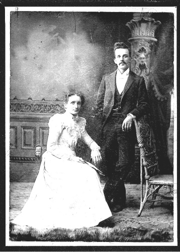 My grandparents Margaret (Maggie) and William (Will) on their wedding day