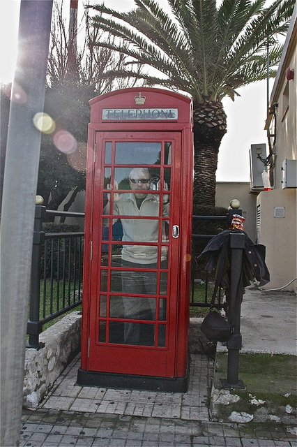 Gibraltar -- Stuck in a British Phone Booth