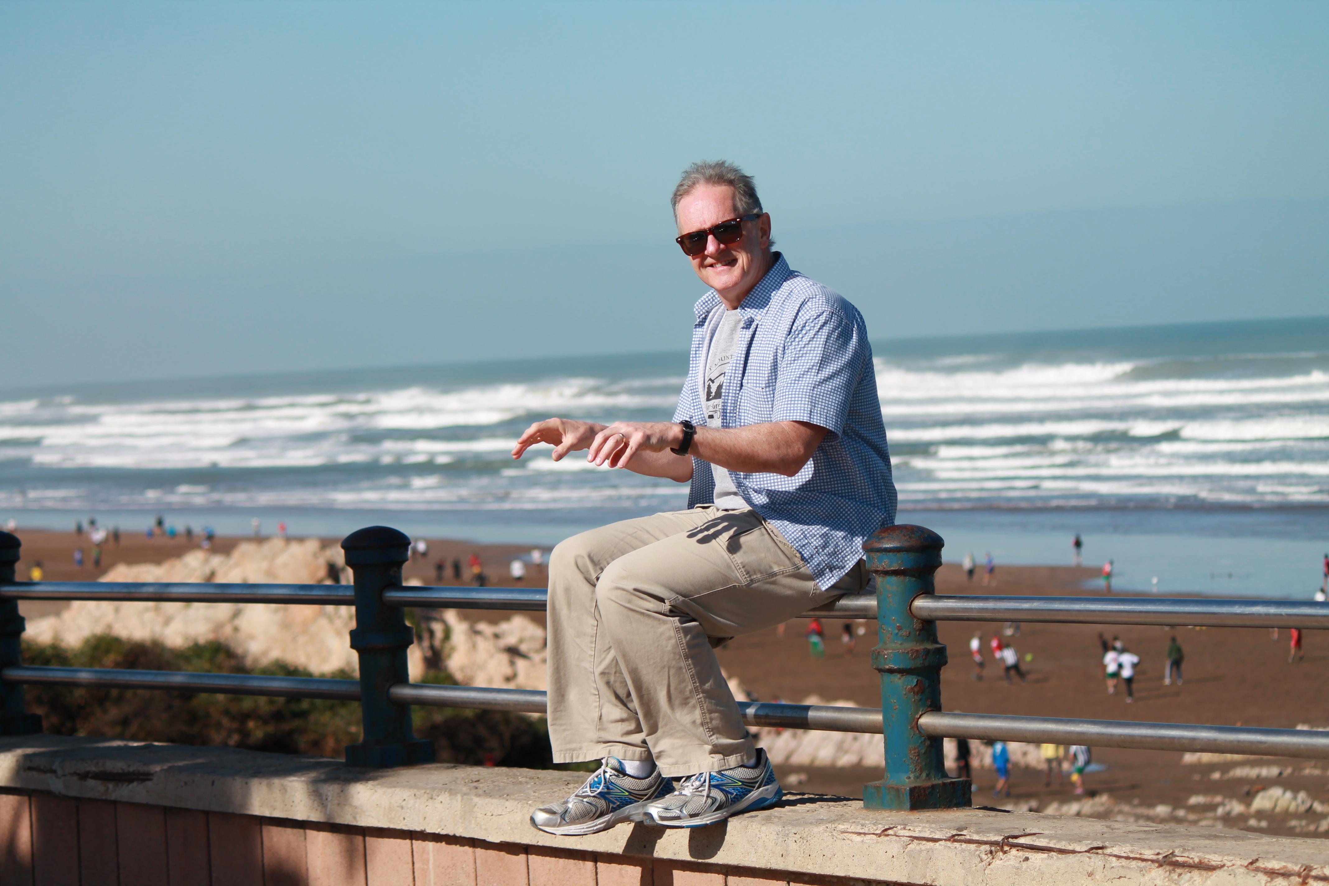 On Casablanca Atlantic shores...