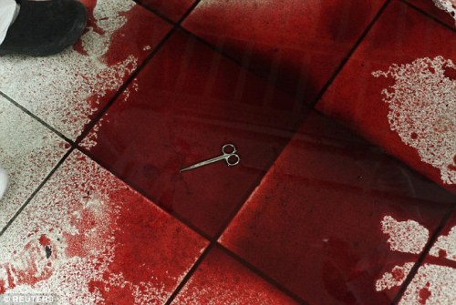 Blood soaked OR
