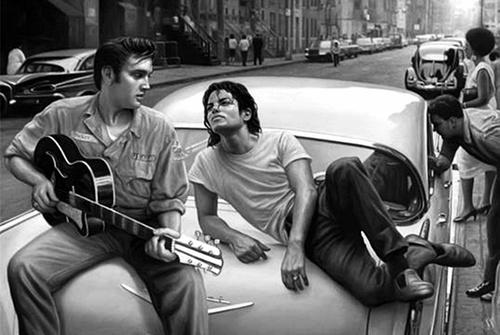 elvis and michael jackson