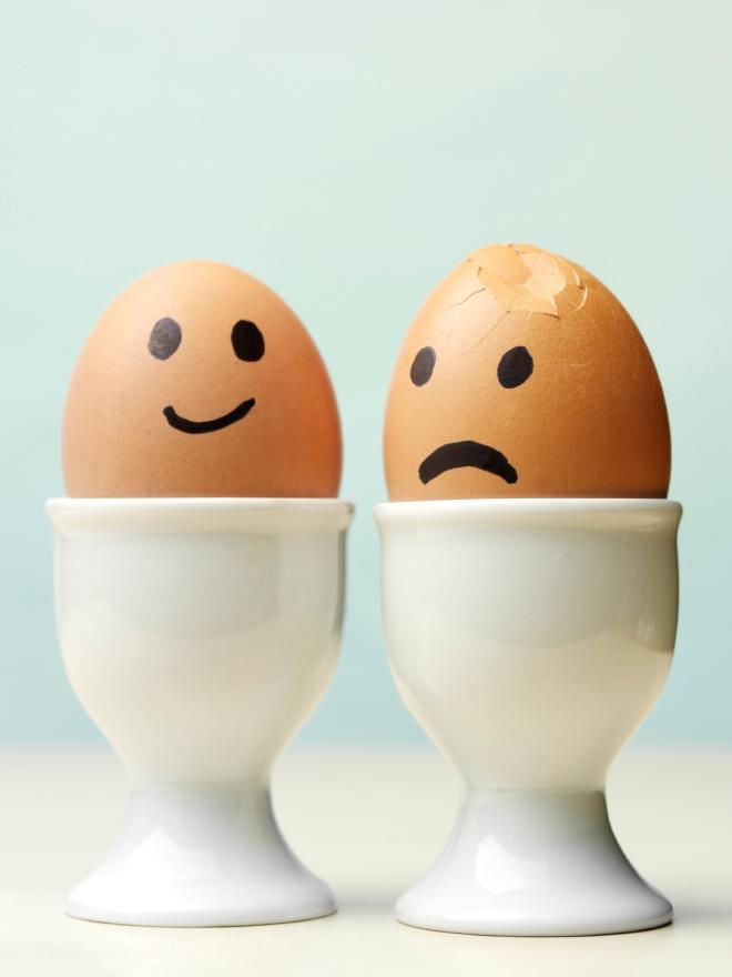 Happy sad eggs