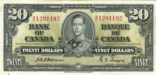 King George $20 bill