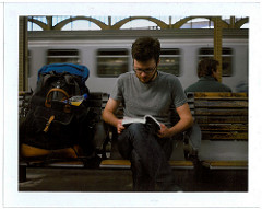 read in train station