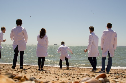 Lab coat at the beach.jpg