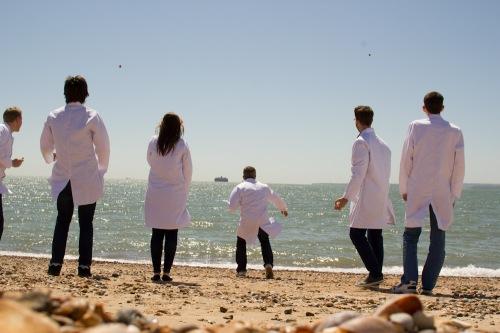 Lab coat at the beach.jpg
