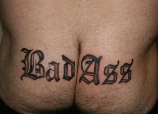 Boobs are a mans butt tattoo
