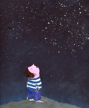 boy with stars