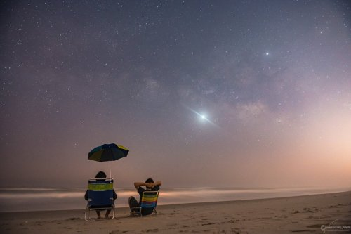 stars on beach