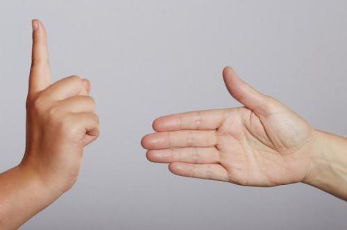 not shaking hands